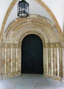 Temple Church, doorway, round church