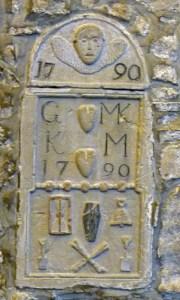 Dornoch Cathedral, mortality stone