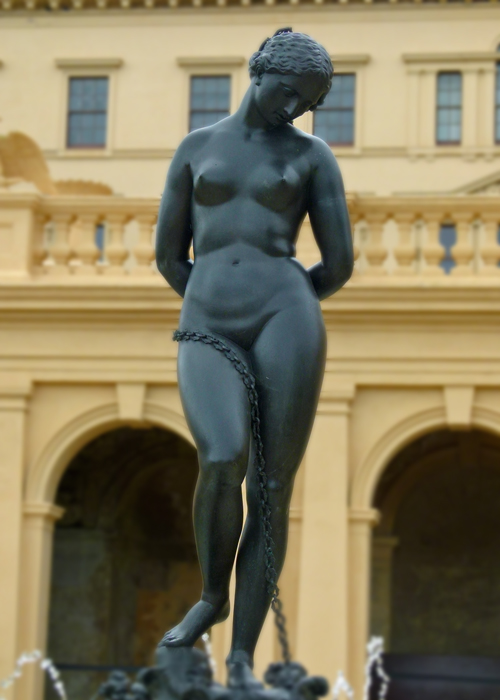 Andromeda, fountain, Osborne House. Isle of Wight, places to visit