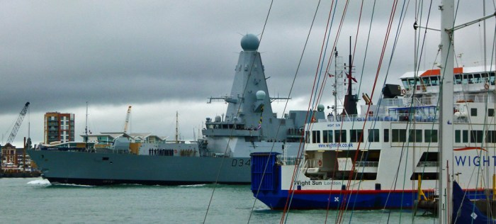 HMS Diamond, Portsmouth Harbour