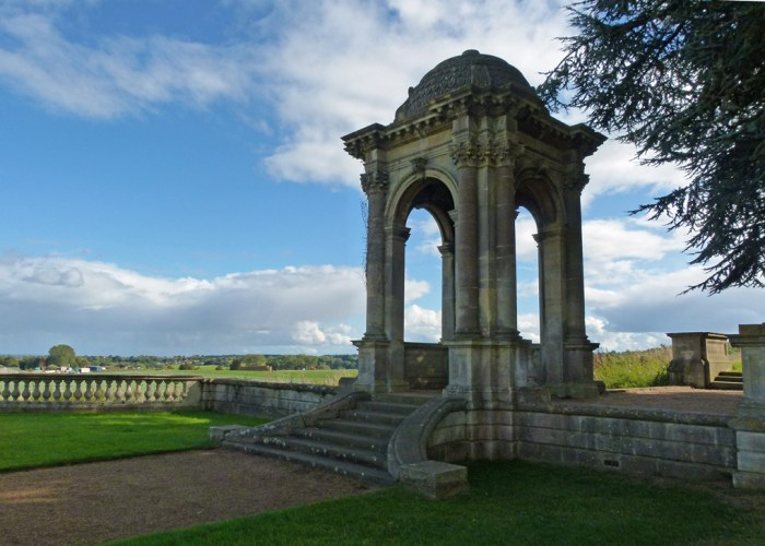 Witley Court, stone temple, Earl Dudley