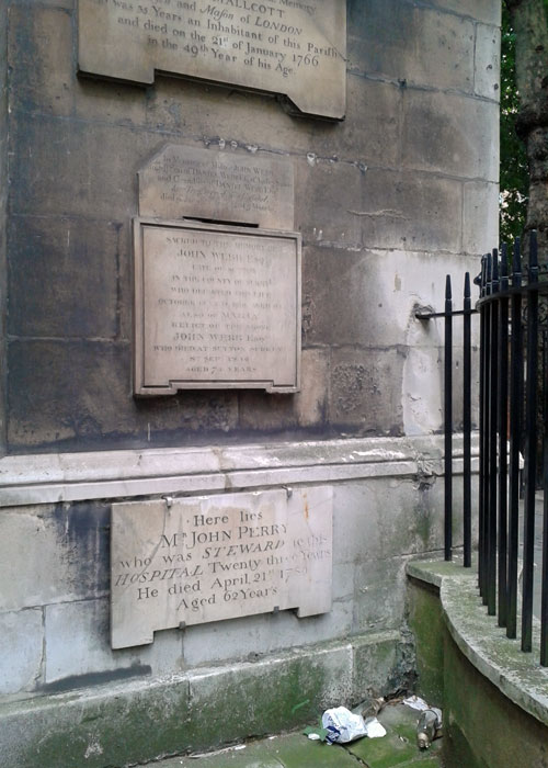Christ Church Greyfriars, gardens in the City of London