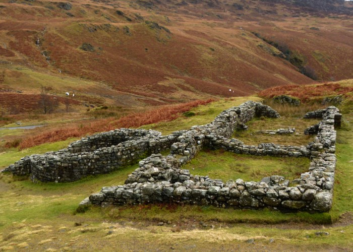 Mediobogdum, Hardknott, Roman Fort, Cumbria, bath house