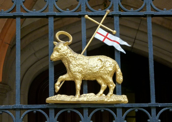 Lamb and Flag, paschal lamb, Agnus Dei , Lamb of God, Middle Temple, Knights Templar
