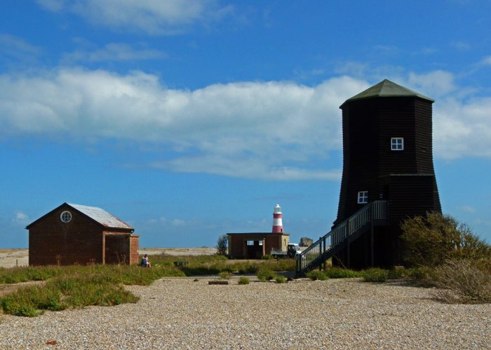 Black Beacon, radio navigation tower, Orford Ness