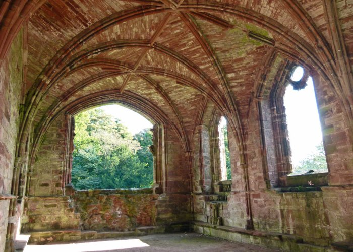 Vaulted ceiling, infirmary chapel, Furness Abbey