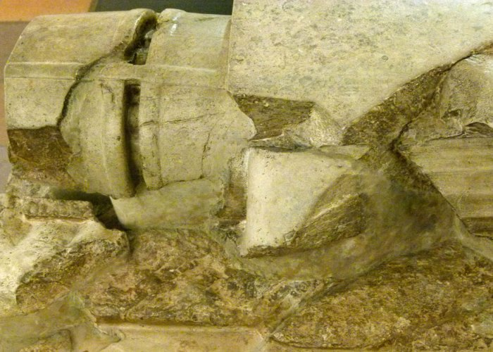 Furness Abbey, effigy, knight