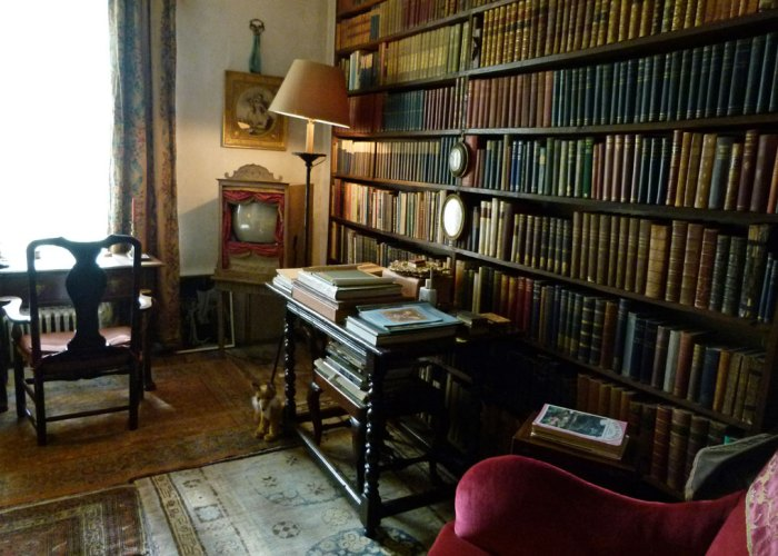 Nymans, library, interior