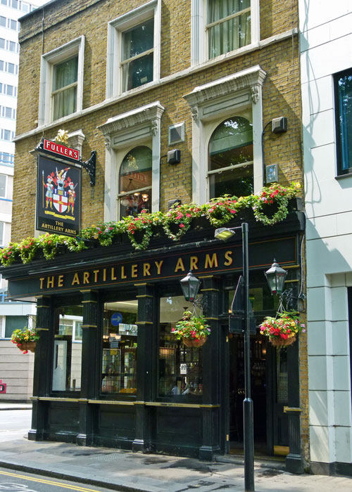 Bunhill, Artillery Arms, Fullers pubs in London