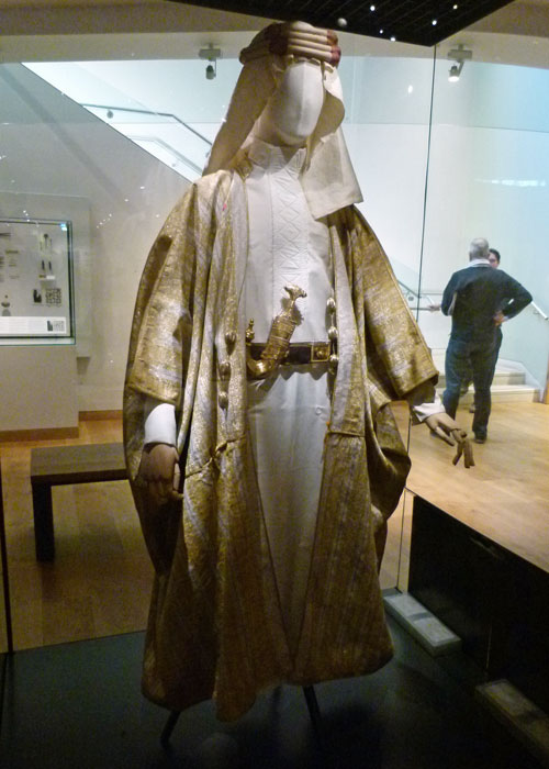 Lawrence, Ashmolean Museum, Arab dress