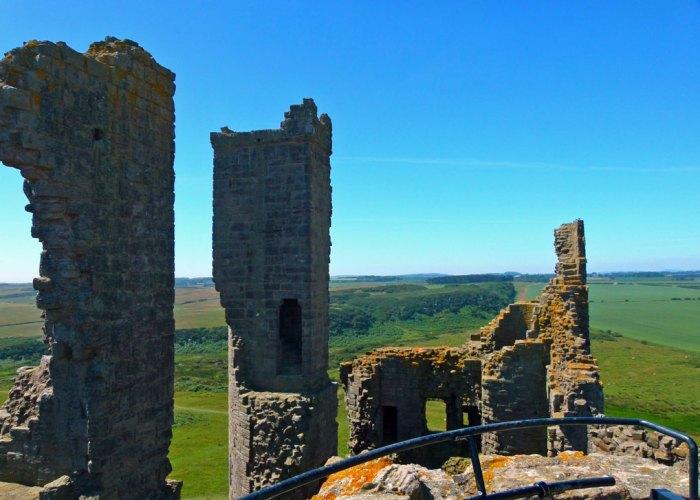 Dunstanburgh Castle, gatehouse, views