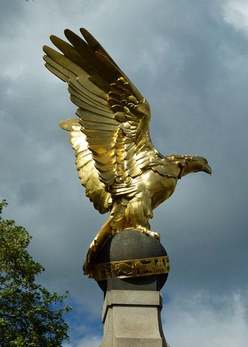 RAF, memorial, gilded eagle