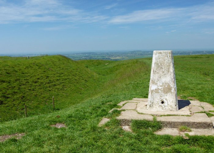 Uffington Castle, trig point, Oxfordshire