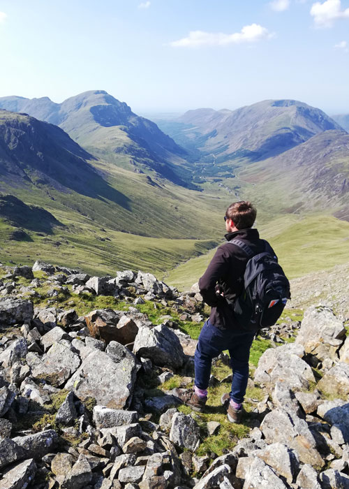 Great Gable, walk, top of Green Gable