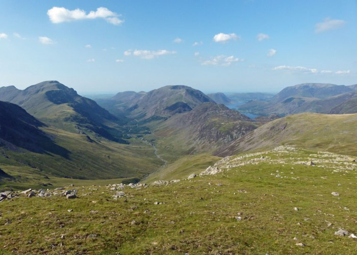 Buttermere, Ennerdale, Green Gable, Great Gable, view