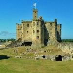 Warkworth, castle, bailey