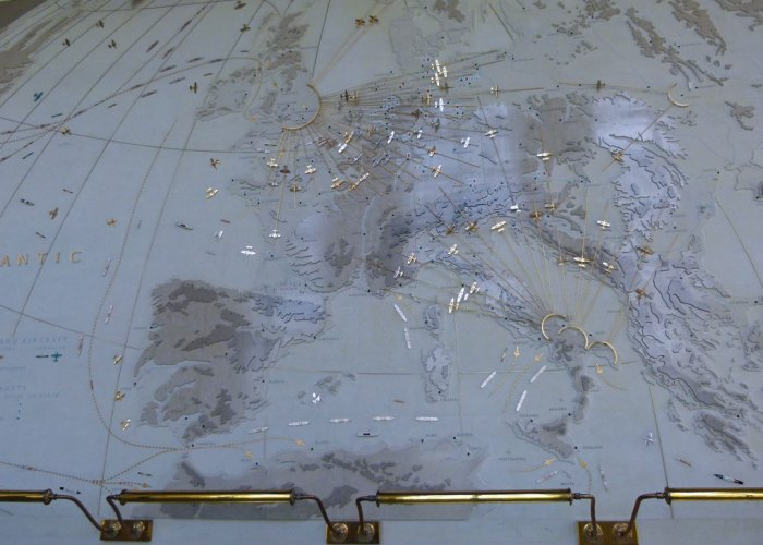 Cambridge American Cemetery, map