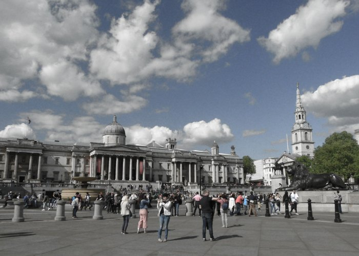 Trafalgar Square, National Gallery, St Martin in the Fields