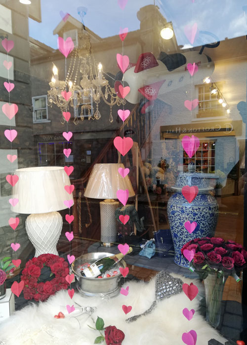 Valentine's Day, shop window