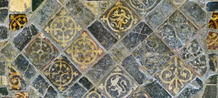 Medieval floor tiles, Lacock Abbey