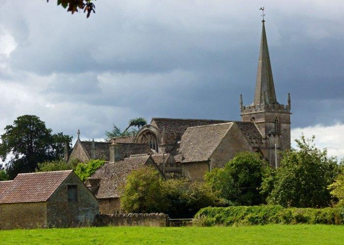 St Cyriac, Lacock, church, Wiltshire.