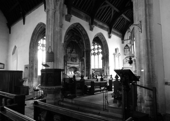 St Cyriac, interior, parish church, Lacock