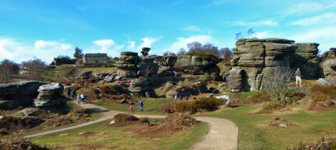 Brimham Rocks, bairns and the Bee Gees