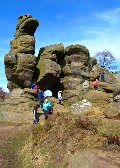 Brimham Rocks, places to take children