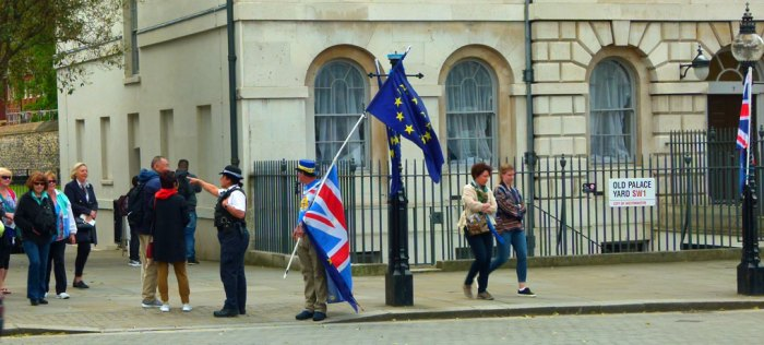 Protestors, Westminster