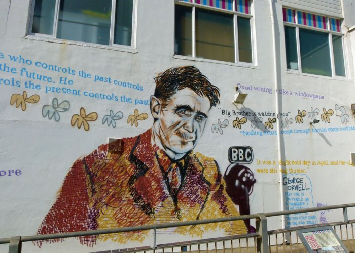 George Orwell, mural, Southwold