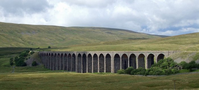 View of Whernside and Ribblehead Viaduct