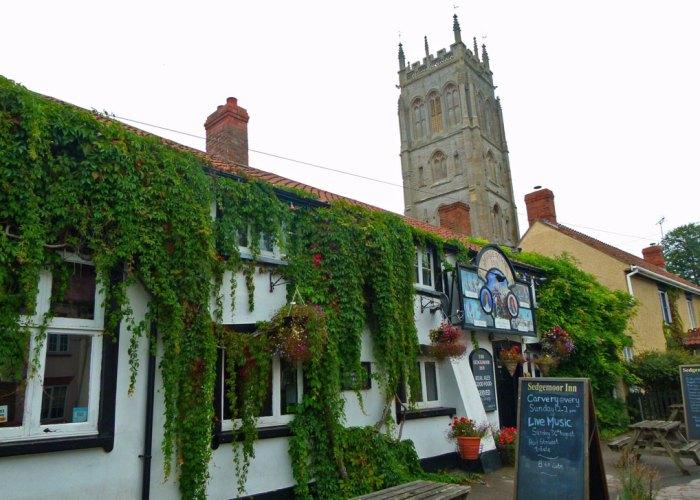 Westonzoyland, pub, church