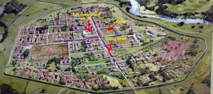 Plan of Wroxeter Roman City