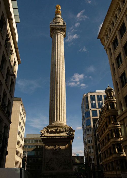 The Monument, Great Fire, London