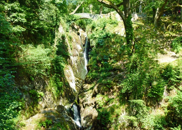 Aira Force on the side of Ullswater