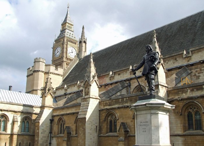 Oliver Cromwell, Houses of Parliament. Westminster