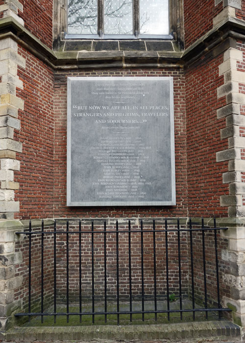 Pilgrim Fathers memorial, Pieterskerk, Leiden