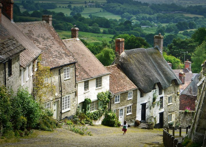 Get out of London, Gold Hill, Shaftesbury, Dorset
