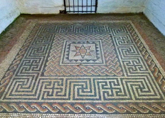 Roman star mosaic, Aldborough, Isurium Brigantum
