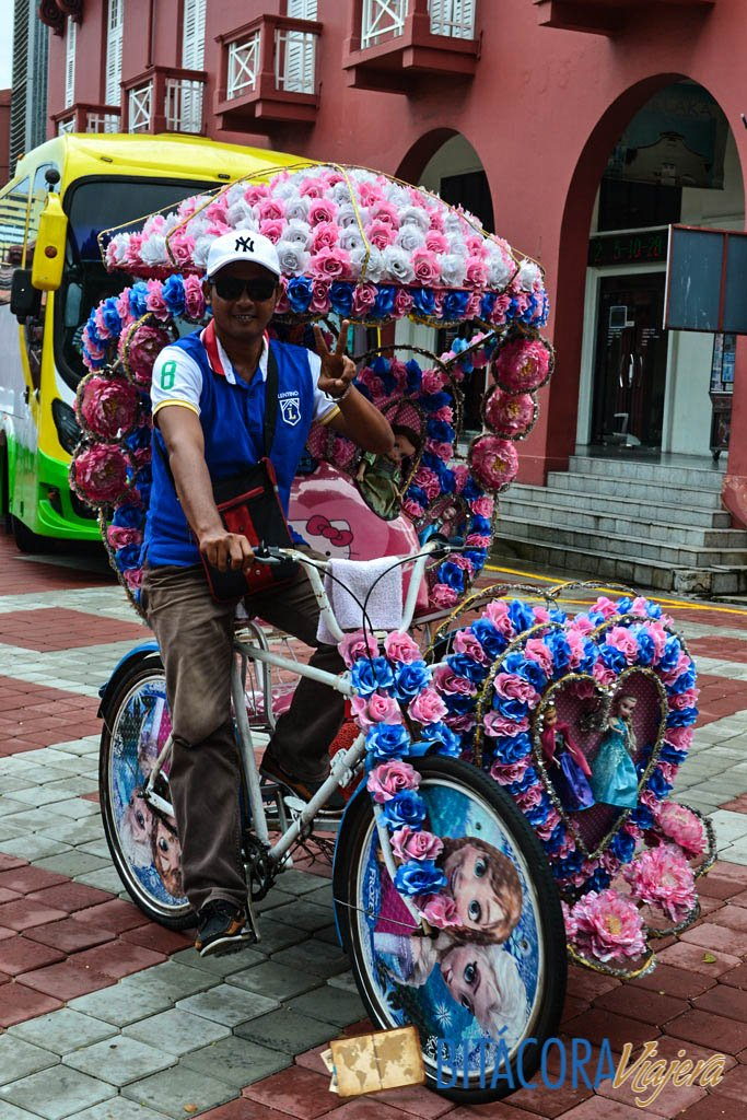 en bici o rickshaw por Melaka (2)