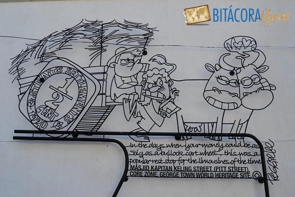Arte Callejero Penang Esculturas de Hierro (1)