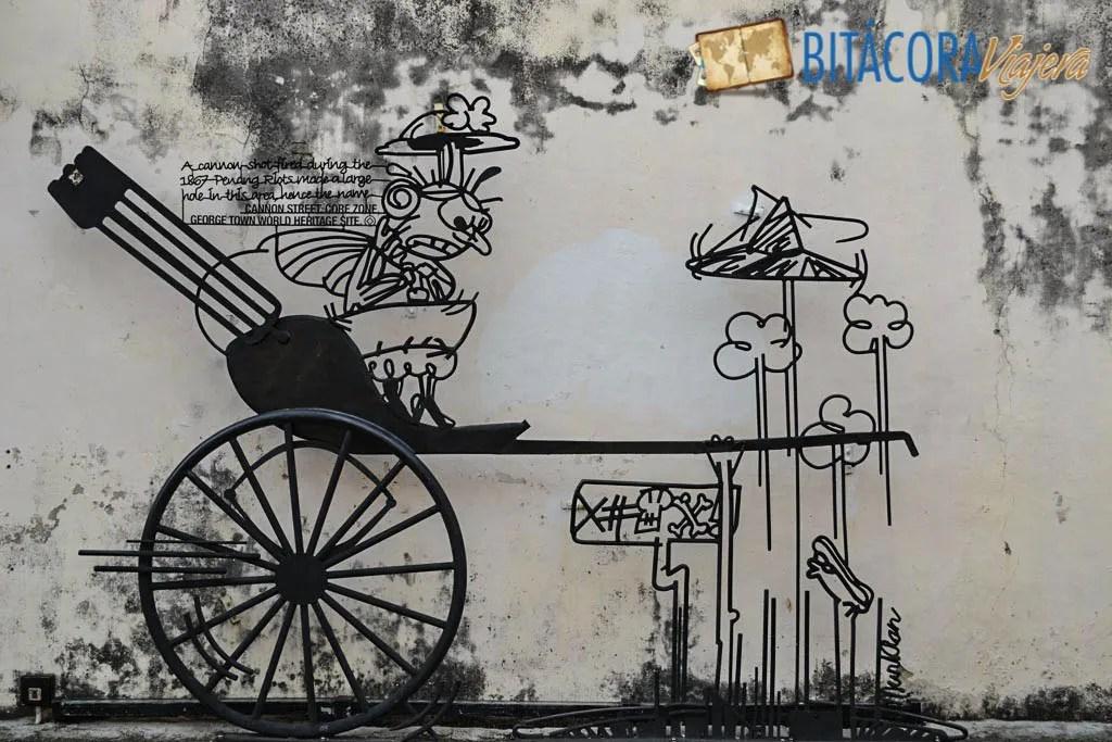 Arte Callejero Penang Esculturas de Hierro (5)