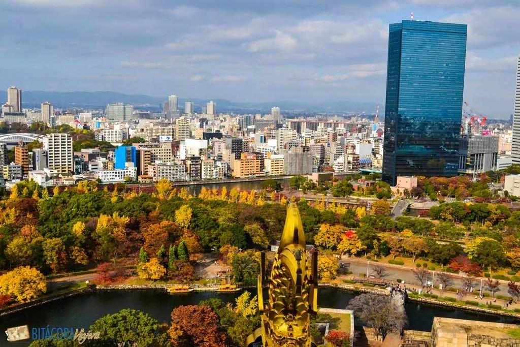 otoño en osaka japon