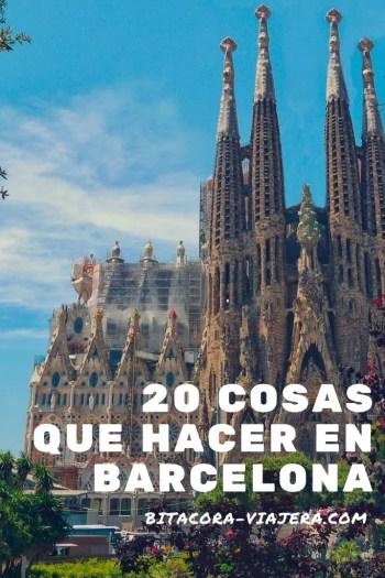 20 cosas que hacer en Barcelona. Una guía con ideas para que puedas sacarle el máximo provecho a la ciudad catalana. #bitacoraviajera #guiasdeviaje #quehacer #quever #viajaraeuropa #viajarabarcelona #barcelona