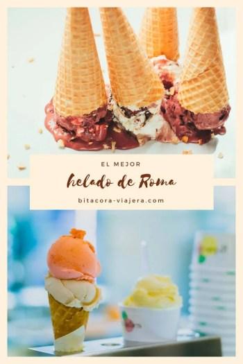 ¿Querés comer el mejor helado de Roma? En este post te cuento dónde vas a encontrarlo! #bitacoraviajera #viajaraitalia #comerenitalia #viajararoma #gastronomia