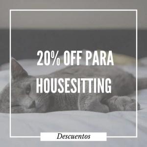 descuento para housesitting