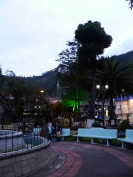 Parque central de Baños.