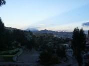 Vista desde la ciudad hacia la cordillera Real.