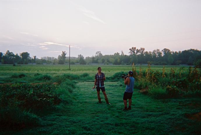jonah filming a farmer