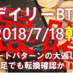 【デイリービットコイン】7/18朝の短観 Cup&handle大返し実現 日足でも転換確認!?(´・ω・`)タノム【2018】